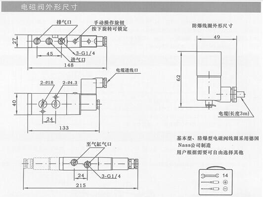 二位三通电磁阀在生产中经常被用到,像制氧机仪控系统,是二位三通电磁阀最典型的应用。下面就简单的介绍下二位三通电磁阀的结构构造,还有这些结构组件如何工作的,原理又是什么样子?  A:单线圈二位三通电磁阀原理 二位三通电磁阀工作原理: 一进二出:当线圈铁盒通电时,一通向二,一和三关闭; 当线圈铁盒断电时,一和二关闭,一通向三; 二进一出:当线圈铁盒通电时,二通向一,三和一关闭; 当线圈铁盒断电时,二和一关闭,三通向一; 一进一出:常闭式:当线圈铁盒通电时,二通向一,一和三关闭; 当线圈铁盒断电时,二和一关闭,