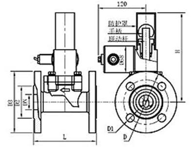 防爆型燃气电磁阀图片