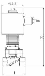 蒸汽电磁阀结构图